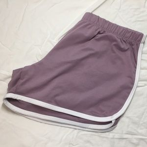 70's inspired jogger sweat shorts
